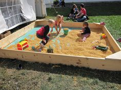 wish I could have a sandbox of corn kernals for the boys...