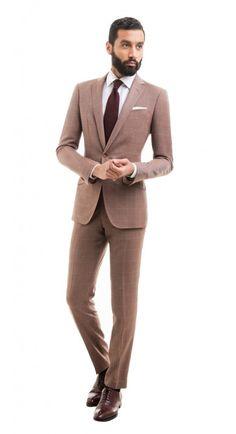 Carnegie Copper Windowpane Suit http://www.blacklapel.com/suits/carnegie-copper-windowpane-suit.html
