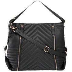 Schwarzer Shopper mit Reißverschlüssen, stylisch und praktisch zugleich! ab 16,90€ ♥ Hier kaufen: http://stylefru.it/s744587 #schwarz #tasche #gold