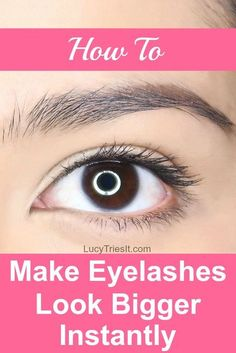 Are you constantly trying to figure out how to make your eyelashes look thicker? Luckily, there's a super quick little trick that actually makes your eyelashes look bigger instantly! via @lucytriesit #eyelashes #makeuptips #makeuptipsandtricks #makeuptip Beauty Tips For Face, Best Beauty Tips, Natural Beauty Tips, Natural Skin Care, Beauty Tricks, Eyeliner For Beginners, Makeup Tips For Beginners, Makeup Blog, Makeup Hacks