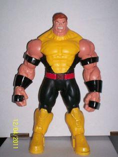 X-Men Juggernaut custom action figure from the X-Men series using arkillo baf as the base, created by drbanner. Silver Samurai, Red Hulk, Custom Action Figures, Marvel Legends, Xmen, Classic Looks, Iron Man, Costumes, X Men