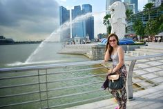 Mermaid + Lion = The Merlion @ Merlion Park, Singapore. Singapore, Lion, Mermaid, Explore, Park, Model, Travel, Beauty, Leo