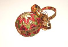 Christmas Ball Christmas Christmas Ornament gold red by Gofen