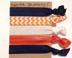 Denver Broncos Creaseless Hair Ties- need to make!