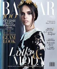 Mina Cvetkovic for Harper's Bazaar Serbia December 2015 by Angelo D'Agostino cover - Dolce & Gabbana