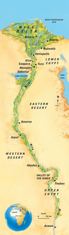 One of the greatest and longest-lasting civilizations in history grew up on a narrow strip of fertile land along the banks of the River Nile in Egypt. The.