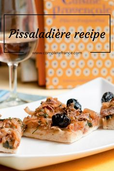 Said to be the Niçoise answer to the Italian pizza, the pissaladière is the perfect dish to serve as an appetiser, says Eric Fraudeau from cookery school, Cook'n With Class Uzès Cook N, Nicoise, French Food, Waffles, French Toast, Food And Drink, Appetizers, Pizza, Kitchens