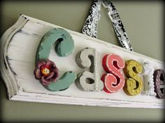 wood letters for nursery
