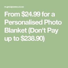 From $24.99 for a Personalised Photo Blanket (Don't Pay up to $238.90)