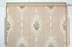 1930s Vintage Wallpaper Ribbons and Roses on by HannahsTreasures