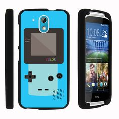 HTC Desire 526G Case SNAP SHELL Slim Fitted Snap on case - Blue Gameboy Color