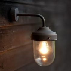 Barn Lamp - Coffee Bean. 45.00 An outdoor lamp but can be used in the bathroom.