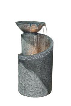 Garden fountains add a distinct element of elegance. Wall fountains are perfect for gardens, patios, or balconies. Indoor and Outdoor garden fountains and decor. Indoor Waterfall Wall, Indoor Waterfall Fountain, Indoor Wall Fountains, Tabletop Water Fountain, Garden Water Fountains, Diy Fountain, Indoor Fountain, Outdoor Fountains, Diy Water Feature