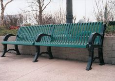 The Classic Style park benches use cast aluminum frames combined with a ribbed steel back and seat.  The best choice for corrosive-free, maintenance-free, outdoor furniture is Thermo-Plastic, PVC coating over steel. Our commercial benches have become the standard everywhere rugged, highly used product is required because THEY ARE THE STRONGEST, MOST DURABLE THERMO-PLASTIC COATED TABLE ON THE MARKET.
