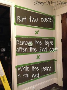 How to Paint Perfect Wide Stripes - - in case I ever decide to commit to striped walls! Paint Stripes, Wide Stripes, Painting Wall Stripes, Striped Walls Horizontal, Painting Tips, House Painting, Painting Walls, Decoration Entree, Painted Trays