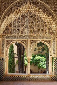 The most beautiful window in the world - Alhambra, Granada, Spain