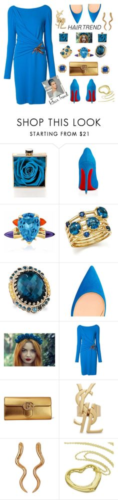 """""""So Kate Egyptian blue"""" by ellenfischerbeauty ❤ liked on Polyvore featuring Kamilah Willacy, Christian Louboutin, Maiko Nagayama, Ippolita, Konstantino, Emilio Pucci, Gucci, Yves Saint Laurent, Madina Visconti di Modrone and Tiffany & Co."""