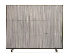 Crate & Barrel Antiqued Brass Fireplace Screen $199