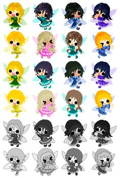 フリーのアイコン素材可愛い妖精 / Icons of the cute little fairies  ダウンロードはこちらから The downloading from this.