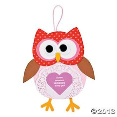 Valentine Doily Owl Sign Craft Kit, Decoration Crafts, Crafts for Kids, Craft & Hobby Supplies - Oriental Trading