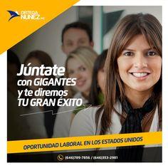 ¡Júntate con GIGANTES y te diremos TU GRAN ÉXITO! <<<< OPORTUNIDAD LABORAL EN LOS ESTADOS UNIDOS>>>> Visita nuestra web: www.orteganunez.com Informes a: (646)789-7856 / (646)353-2981 #OrtegaNunez #Exito #Innovación #Equipo #Liderazgo