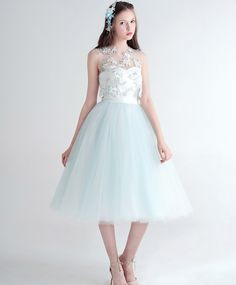 2017 New Fashion A-Line Organza High Sleeveless Cocktail Dresses Tank Appliques Flowers Formal Dress Party Ball Gowns