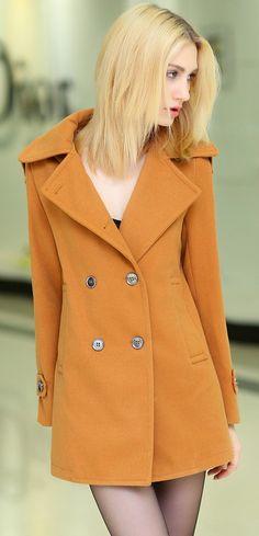 Stylish Korean Cashmere Coat YRB0568