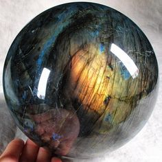 """the-wiccans-glossary: """"Labradorite Crystal Ball. Cool Rocks, Beautiful Rocks, Crystal Sphere, Crystal Ball, Minerals And Gemstones, Rocks And Minerals, Rocks And Gems, Stones And Crystals, Gem Stones"""