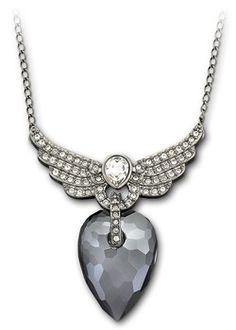 Swarovski purple crystal wings pendant (£99)