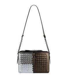 BOTTEGA VENETA Intrecciato Runway Shoulder Bag.  bottegaveneta  bags   shoulder bags  hand bags  leather  metallic   5920802219f69