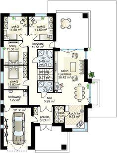 Selene VI  projekt - Parter 140.54 m²  + garaż 22.66 m² Dream House Plans, House Floor Plans, My Dream Home, House Design Pictures, Sweet Home, Flooring, How To Plan, House Styles, Modern