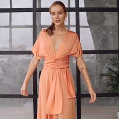 bridesmaid dresses maxi dress, long wedding party dress, bridesmaid and kleid hochzeitsgas, infinity : Dress for Women Multiway and Wedding Guest Dresses. Cheap Orange Sleeveless made of highest quality Lycra Long Bridesmaid Dresses. Infinity Dress Ways To Wear, Infinity Dress Styles, Infinity Dress Bridesmaid, Orange Bridesmaid Dresses, Infinity Dress Tutorial, Infinity Gown, Multiway Bridesmaid Dress, Bridesmaid Saree, Infinity Wedding