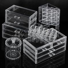 1 set presentoir cosmetique boite rangement tiroir organisateur maquillage bijoux. Black Bedroom Furniture Sets. Home Design Ideas