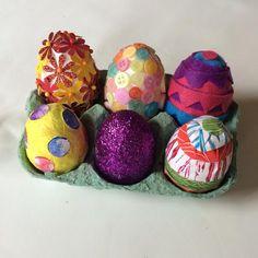 DIY colorful little eggs Easter egg hunt