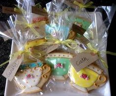 Vintage teacup favours for an afternoon tea party