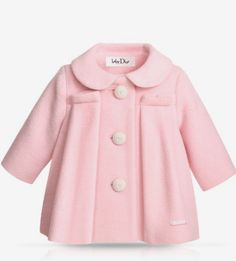 BABY DIOR - Pale pink heavy woollen coat I think I just fell in love! Fashion Kids, Baby Girl Fashion, Toddler Fashion, My Baby Girl, Pink Girl, Baby Girls, New Baby Dress, Kids Outfits, Cute Outfits