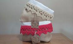 organizadores-paneras :: Hecho-en-casa-crochet Burlap, Reusable Tote Bags, Organization, Farmhouse Rugs, Burlap Bags, Fabric Purses, Crocheting, Fabric Basket Tutorial, Fabric Gifts