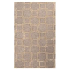 Adorned with an overlapping squares motif, this artfully hand-tufted rug offers bold geometric style to your floors.   Product: