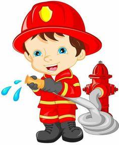 Illustration Enfant New online shop for fire brigade toys. Firefighter Clipart, Art For Kids, Crafts For Kids, Community Helpers Preschool, Fireman Party, Flashcards For Kids, School Frame, Cartoon Kids, Fire Trucks