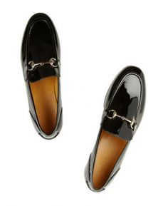Gucci Black Patent Loafers