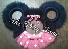 Minnie Mouse Tulle Wreath by TheGlitzyPony on Etsy