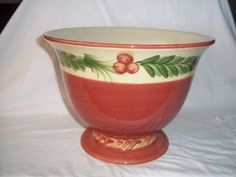 Southern Living At Home   Gail Pittman   Christmas Memories Buffet Bowl    Retired Value $50