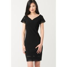 Sheath Dress With Laser Cut Detail