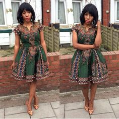 Simple Ankara Short Gown Styles for Ladies .Simple Ankara Short Gown Styles for Ladies African Dresses For Women, African Print Dresses, African Attire, African Wear, African Women, African Prints, African Style, African Fabric, African Inspired Fashion
