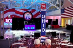 bar mitzvah decor planned by Janie Haas Events
