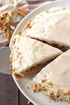 This Vegan Cinnamon Roll Cake tastes just like the beloved sweet pastry but is gluten-free and dairy-free! With a delicious and sweet cinnamon swirl...