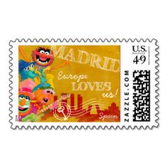 The Muppets - Madrid, Spain Poster Stamps. This great stamp design is available for customization or ready to buy as is. Of course, it can be sent through standard U. Just click the image to make your own! Muppets Most Wanted, Kermit The Frog, Postage Stamps, Design Your Own, Make Your Own, Madrid, Best Gifts, Spain, Greeting Cards