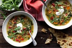 Red lentil soup with sumac and goji berries