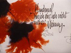Karl Valentin-Kalligraphie auf www.saetzeundschaetze.com