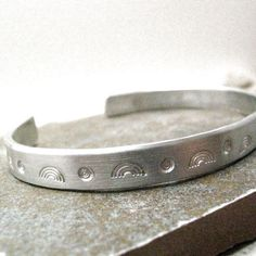Rainbow Bracelet, 1/4 inch aluminum cuff, LGBT pride, gay, lesbian, queer, bisexual, transgender, marriage equality, same sex